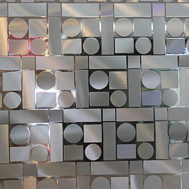 Geometrinen Nykyaikainen Ikkunakalvo, PVC/Vinyl materiaali ikkuna Decoration Ruokailuhuone Makuuhuone Olohuone Keittiö