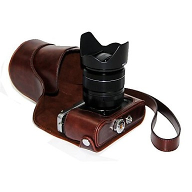 Dengpin® PU Leather Oil Skin Detachable Camera Cover Case Bag for Fujifilm X-E2 X-E1 (Assorted Colors)