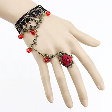 Női Gyűrű karkötők Gótikus Ékszerek Csipke Fekete Piros Zöld Halványlila Ékszerek Mert Parti Napi Hétköznapi Karácsonyi ajándékok 1db