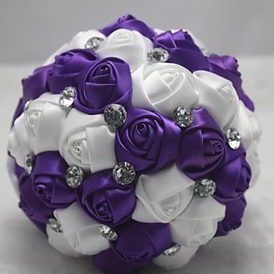 Esküvői virágok Csokrok Esküvő Gyöngy Csipke Strassz Poliészter Szatén 7,09