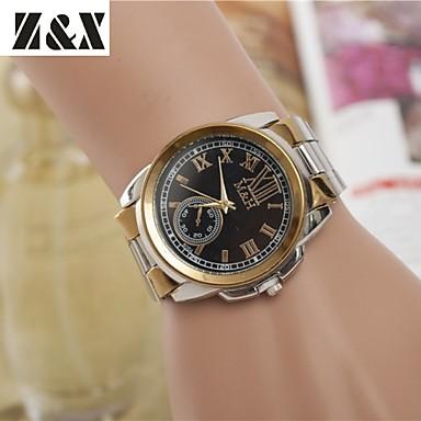 Bayanların Elbise Saat Moda Saat Bilek Saati Quartz Alaşım Bant Gümüş Altın Rengi Beyaz Siyah Altın