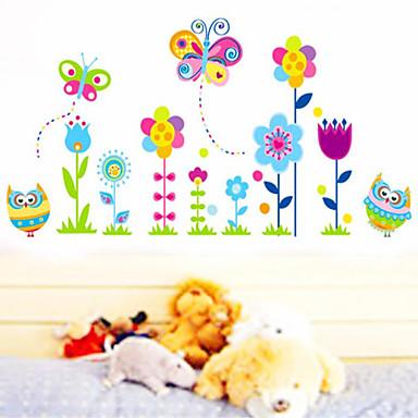 naklejki ścienne, naklejki na ścianę, naklejki ścienne kwiat motyl z pcv