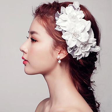 진주 레이스 머리 빗 머리 핀 머리 장식 고전적인 여성 스타일