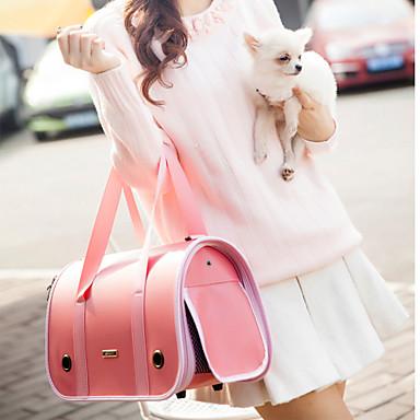 Gato / Cachorro Tranportadoras e Malas / Mini Mensageiro Animais de Estimação Transportadores Portátil Castanho / Rosa Couro PU