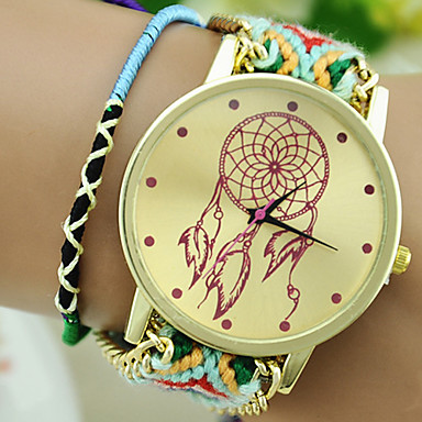 Women's Fashion Watch Chinese Tile Other Band Wrist Watch Multi-Colored