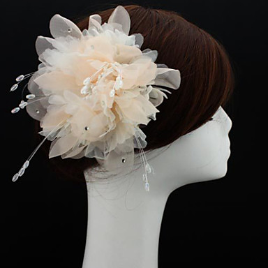 Chiffon Fascinators Flowers Hats 1 Wedding Special Occasion Outdoor Headpiece