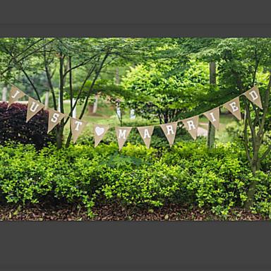 Düğün Partisi Keten Karışık Materyal Düğün Süslemeleri Bahçe Teması Klasik Tema Kış Bahar Yaz Sonbahar Tüm Mevsimler