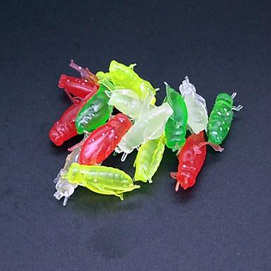 80 adet Yumuşak Yem Przynęty wędkarskie Yumuşak Yem Yeşil Açık Yeşil Kırmızı Sarı Tirsi g/Ons mm/1