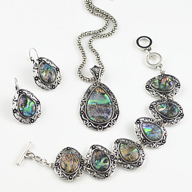 Women's Drop Jewelry Set Earrings / Necklace / Bracelets & Bangles - For Party / Daily