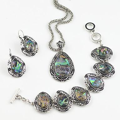 Dames Kauri Legering Drop Feest Dagelijks Oorbellen Kettingen Armband Kostuum juwelen
