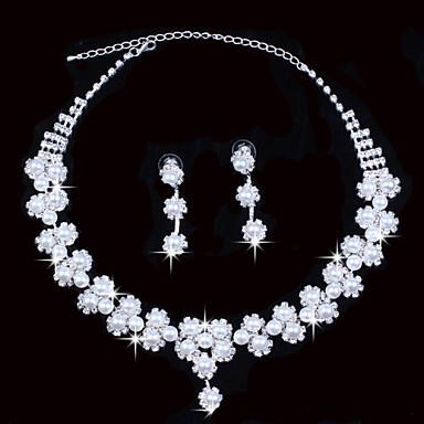 Biżuteria Ustaw Damskie Rocznica / Ślub / Zaręczynowy / Piękny Jewelry Sets Stop Rhinestone Naszyjniki / Náušnice Srebrny