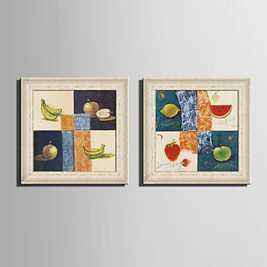 Fantasy / Élelmiszer/ital Bekeretezett vászon / Bekeretezett szett Wall Art,PVC Bézs Háttéranyag nélkül a Frame Wall Art