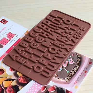 bakeware szilikon angol ABC sütőformák csokoládé (véletlenszerű szín)
