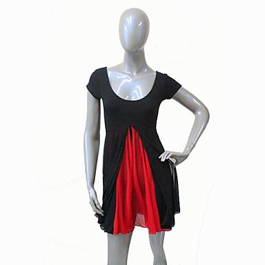 Accessoires de Danse Robes Femme Enfant Spectacle Entraînement Coton Tulle Lycra 1 Pièce Robe