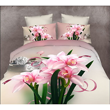 Bedtoppings 3D prints Duvet Cover 4PCS Set