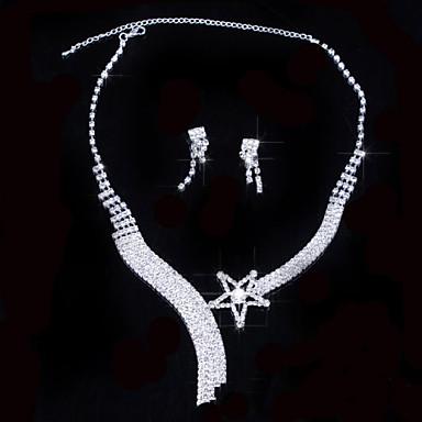 Femme Autres Ensemble de bijoux Boucles d'oreille / Colliers décoratif - Ordinaire Argent Pour Mariage / Soirée / Occasion spéciale