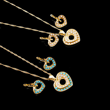 Women's Jewelry Set Wedding Party Daily Casual Sports Pearl Resin Gold Plated Earrings Necklaces