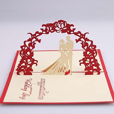 Yandan Katlamalı Düğün Davetiyeleri 1 - Tarih Kartlarını Kaydedin Kart Kağıdı 12*14.5cm
