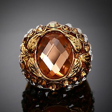 Pierścionki Modny Impreza Biżuteria Stop / Cyrkonia Damskie Duże pierścionki 1szt,Jeden rozmiar Złoty