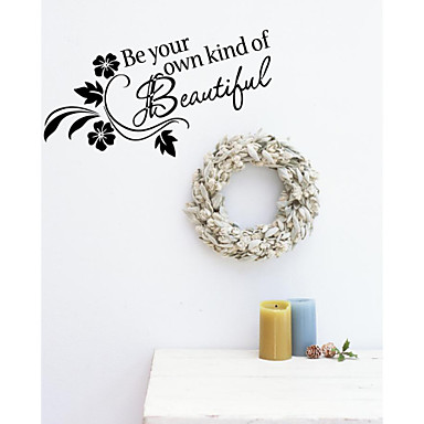Words & Quotes Wall Stickers Words & Quotes Wall Stickers Decorative Wall Stickers, Vinyl Home Decoration Wall Decal Wall Decoration