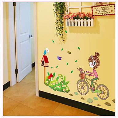 Personnes Stickers muraux Autocollants avion Autocollants muraux décoratifs Matériel Amovible Décoration d'intérieur Calque Mural