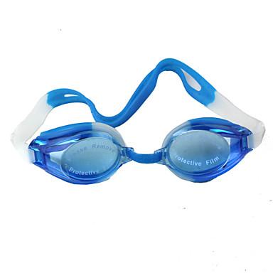 Swimming Goggles Adjustable Size Waterproof Plastic Plastic Dark Blue Transparent