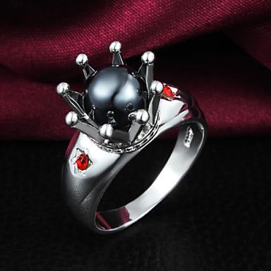 Dames Bandring Kristal Zilver/Zwart Parel Sterling zilver Zirkonia Zilver Tupsu Vintage Schattig Feest Werk Informeel Modieus Bruiloft