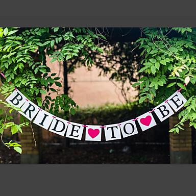 Πάρτι πριν το Γάμο Χαρτί Περλέ Hard Card Paper Διακόσμηση Γάμου Θέμα Κήπος / Κλασσικό Θέμα Χειμώνας Άνοιξη Καλοκαίρι Φθινόπωρο