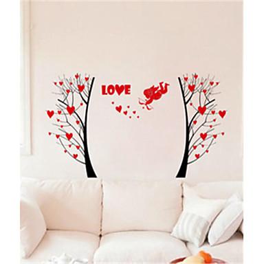 Romance Botanical Wall Stickers Plane Wall Stickers Decorative Wall Stickers, Vinyl Home Decoration Wall Decal Wall Decoration