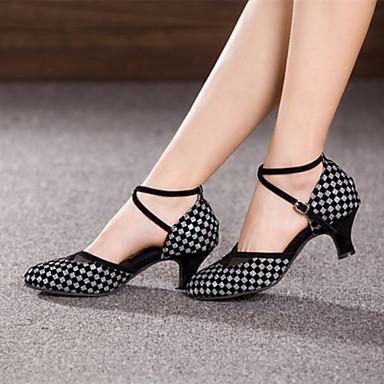 Women's Dance Shoes Modern Suede/Paillette Cuban Heel More Colors