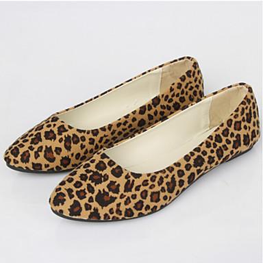 Γυναικεία παπούτσια - Μπαλαρίνες - Καθημερινά - Επίπεδο Τακούνι - Μυτερό - Ύφασμα - Άνιμαλ Πριντ