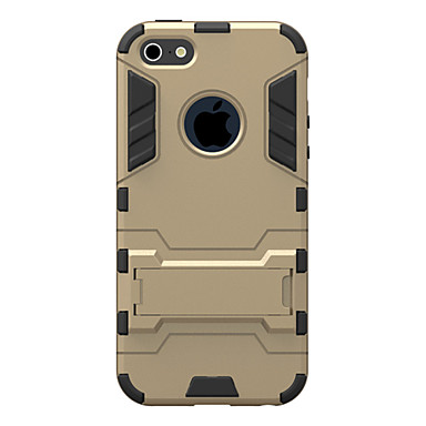 Case Kompatibilitás Apple iPhone 8 iPhone 8 Plus iPhone 5 tok iPhone 6 iPhone 6 Plus iPhone 7 Plus iPhone 7 Ütésálló Állvánnyal Fekete tok
