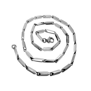 Men's Diamond Stick Three-dimensional Angle Titanium Necklace
