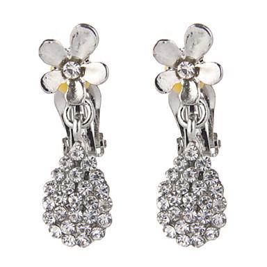 damla küpeler kadın alaşım küpe elmas taklaları klasik kadınsı stil