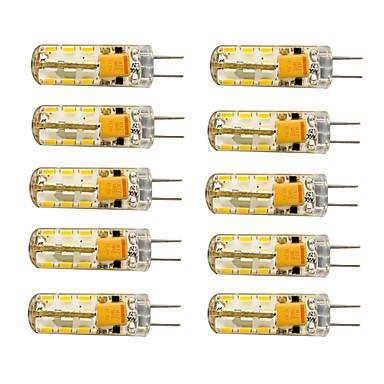 10pcs 1.5W 120 lm G4 LED Mısır Işıklar T 24 led SMD 3014 Sıcak Beyaz Serin Beyaz AC 12V