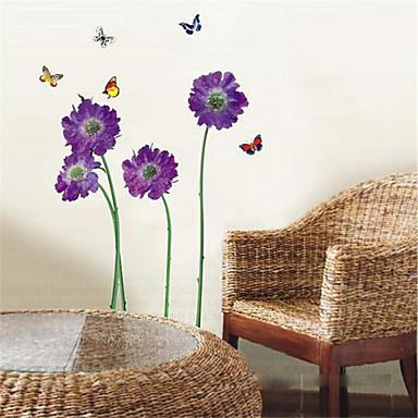 falimatrica fali matricák, lila pillangó virág pvc falimatrica