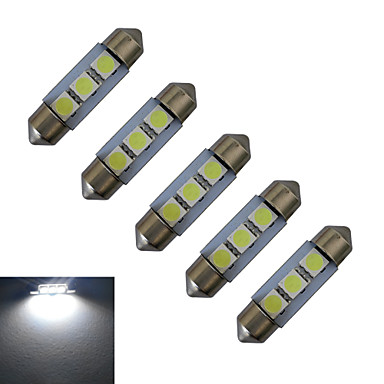 5 Stück 1 W 48-100 lm Girlande Lichtdekoration 3 LED-Perlen SMD 5050 Kühles Weiß 12 V