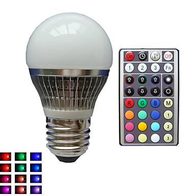 billige Elpærer-LED-globepærer E26 / E27 A50 1 LED perler Høyeffekts-LED Mulighet for demping Fjernstyrt Dekorativ RGB 85-265 V / 1 stk. / RoHs
