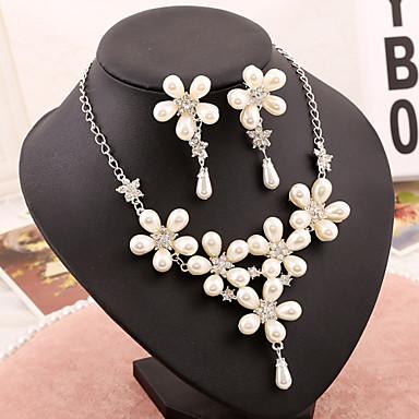 Conjunto de jóias Mulheres Aniversário / Casamento / Noivado / Festa / Ocasião Especial Conjuntos de Joalharia Imitação de Pérola / Strass