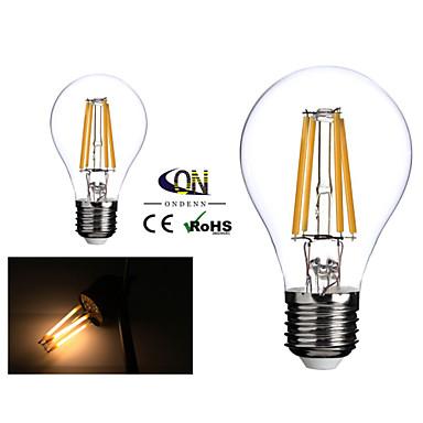 2 db. ONDENN E26/E27 4 COB 400 LM Meleg fehér A60(A19) edison Régies (Vintage) Izzószálas LED lámpák AC 220-240 / AC 110-130 V