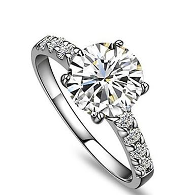 Feminino Anéis Grossos Amor Fashion Prata de Lei Strass Jóias Casamento