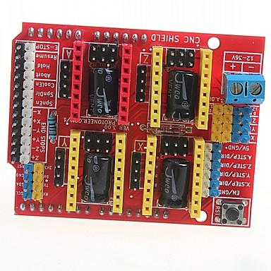 CNC-Schild v3 Graviermaschine 3D-Drucker a4988 Erweiterungsplatine Treiber-Platine für Arduino