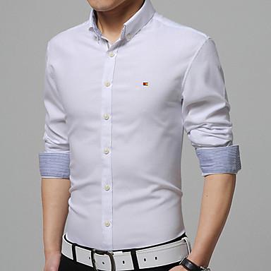 La Vestir Hombre Muestra Cuidado Salud Elegante Piel Comodidad Encabeza Algodón Color Camisas Masculino Para Fácil De Sólido WEH92DI