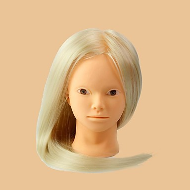 manikin hoved med hår