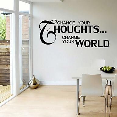 Worte & Zitate Wand-Sticker Flugzeug-Wand Sticker Dekorative Wand Sticker, PVC Haus Dekoration Wandtattoo Wand Glas / Badezimmer