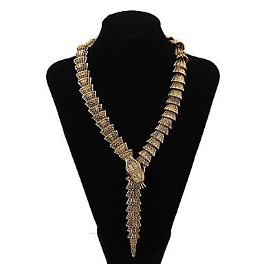 Damen Statement Ketten  -  vergoldet Schlange Personalisiert, Erklärung Gold Modische Halsketten Für Party