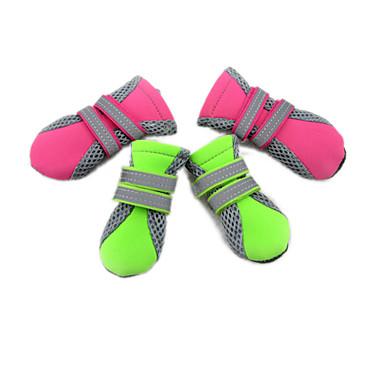 abordables Vêtements & Accessoires pour Chat-Chat Chien Chaussures & Bottes Etanche Couleur Pleine Pour les animaux domestiques Tissu / Hiver