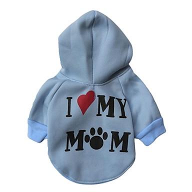 Kedi Köpek Kapüşonlu Giyecekler Köpek Giyimi Günlük/Sade Kalp Beyaz Gri Mavi Pembe Kostüm Evcil hayvanlar için