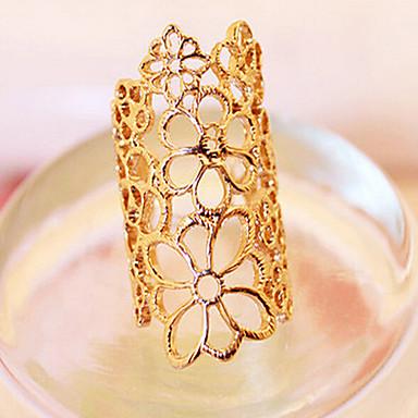 voordelige Dames Sieraden-Dames Statement Ring Goud Kant Legering Dames Ongewoon Uniek ontwerp Feest Sieraden filigraan Rozen Bloem Verstelbaar