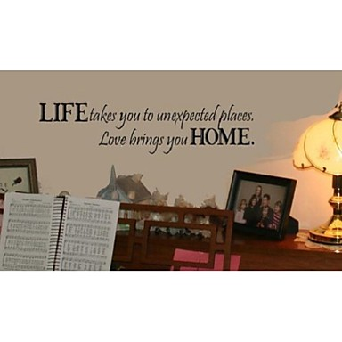 Life Takes You To Unexpected Places Quote Wall Decorative ZY8081  Adesivo De Parede Removable Vinyl Wall Stickers